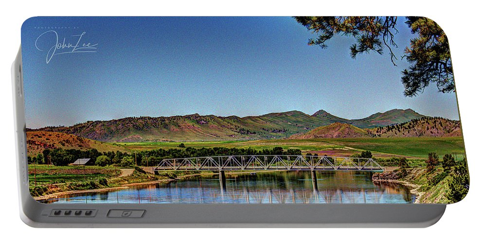 River Portable Battery Charger featuring the photograph Bridge At Wolf Creek by John Lee
