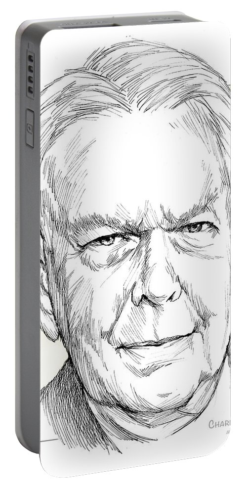 History Portable Battery Charger featuring the drawing Charles Hamilton by Greg Joens