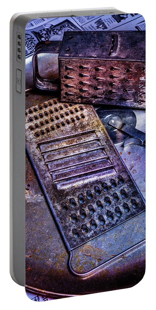 Cheese Grater Portable Battery Charger featuring the photograph Cheese Grater 30 by Mike Penney