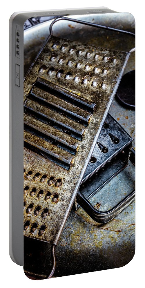 Cheese Grater Portable Battery Charger featuring the photograph Cheese Grater 33 by Mike Penney