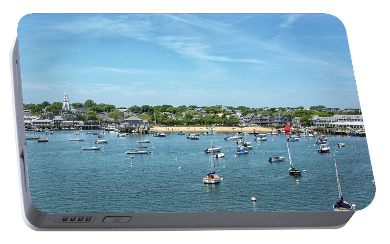 Childrens Portable Battery Charger featuring the photograph Childrens Beach - Nantucket Harbor - Massachusetts by Brendan Reals