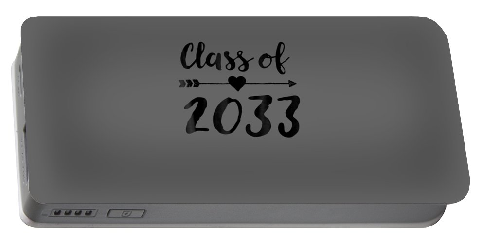 girls' Novelty T-shirts Portable Battery Charger featuring the digital art Class Of 2033 Grow With Me Shirt First Day Of School by Do David