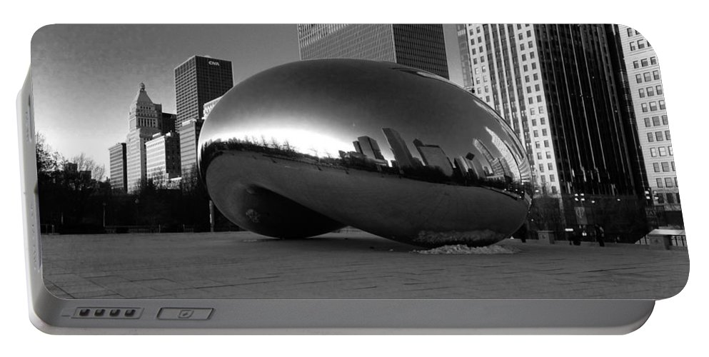 Portable Battery Charger featuring the photograph Cloudgate 2 by Sue Conwell