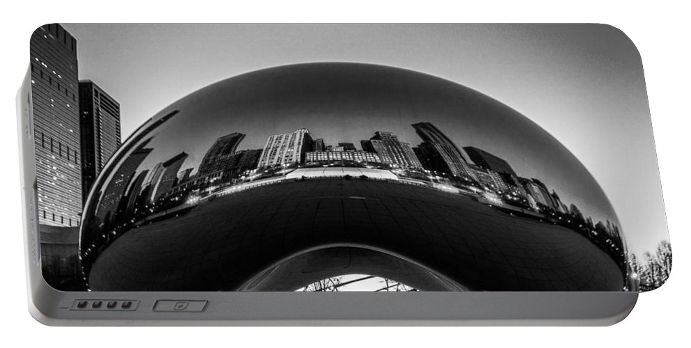 Portable Battery Charger featuring the photograph Cloudgate4 by Sue Conwell