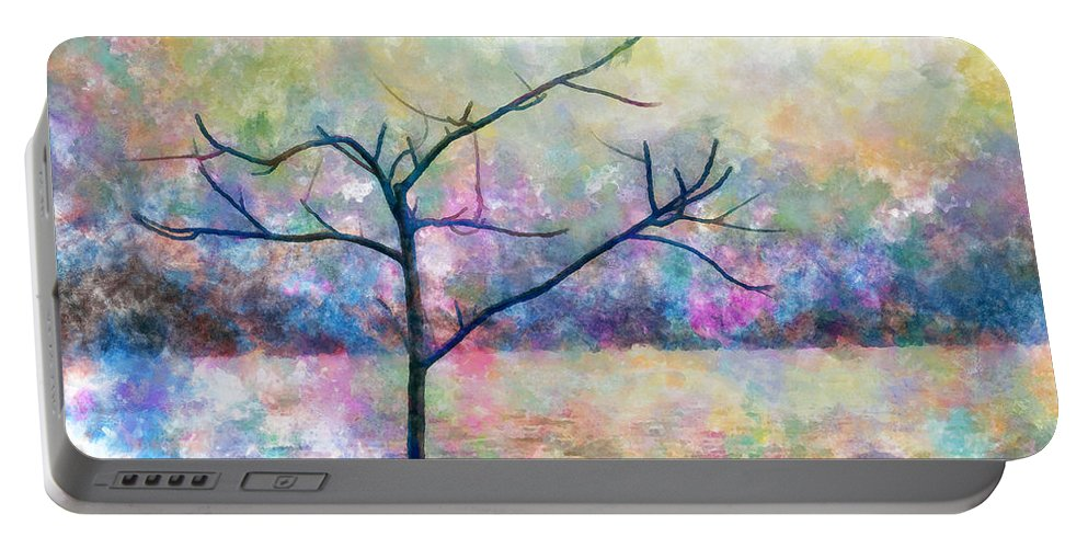 Cold Portable Battery Charger featuring the photograph Cold Tree by Munir Alawi
