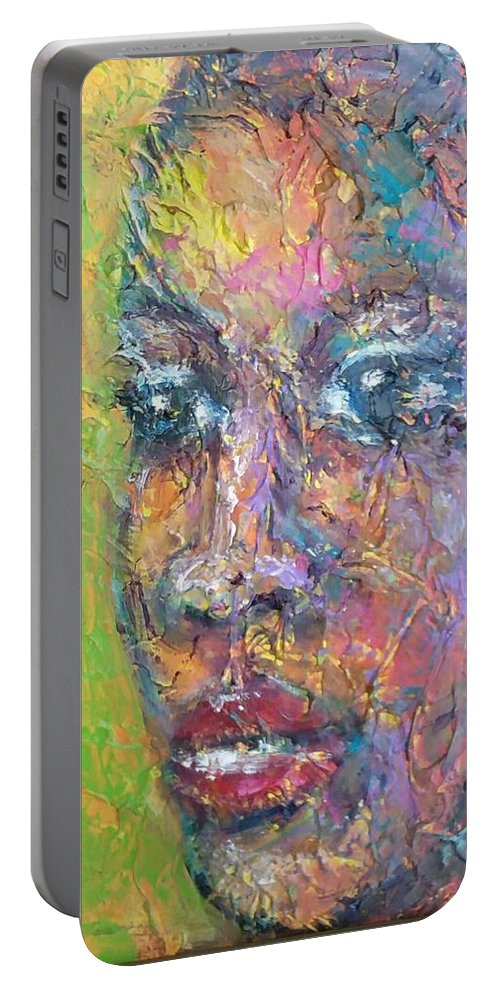 Portable Battery Charger featuring the painting Contemplation by Jan Gilmore