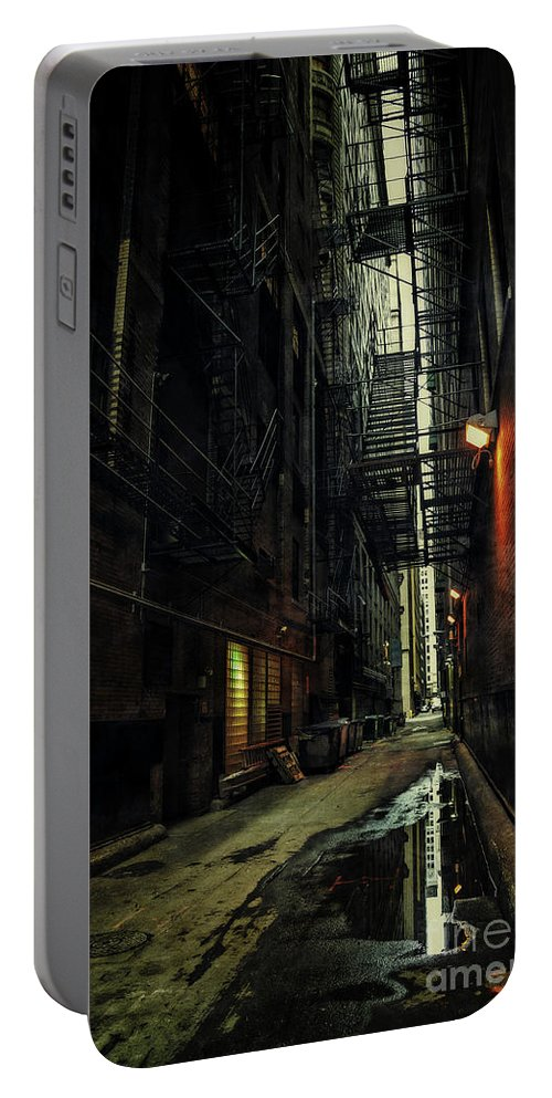 Alley Portable Battery Charger featuring the photograph Whispering City by Bruno Passigatti