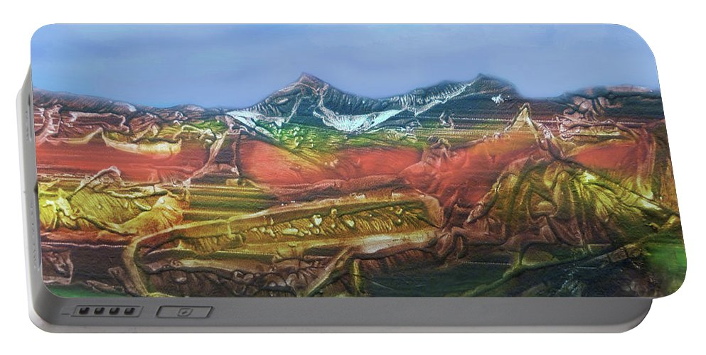 Otto Rapp Portable Battery Charger featuring the digital art Decalcomania 2019-05-21 by Otto Rapp