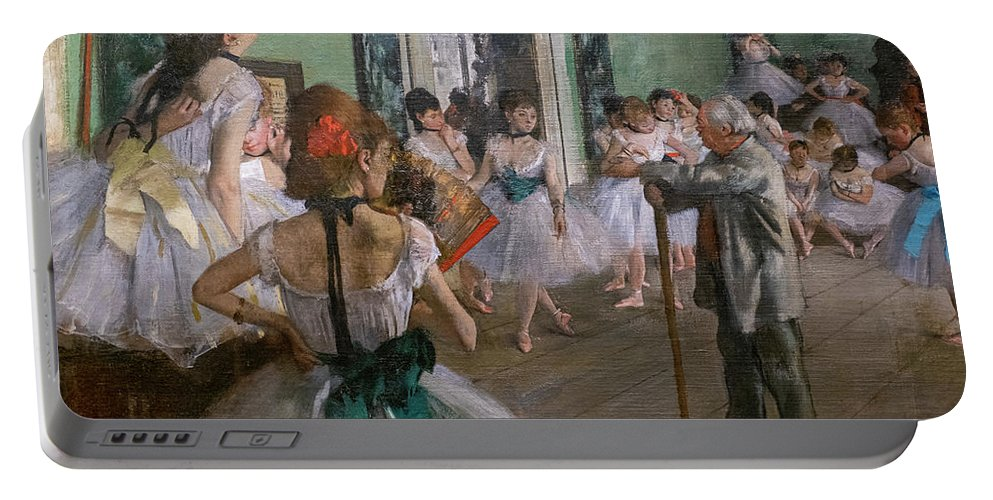 Dance Portable Battery Charger featuring the painting Degas, The Dance Class Detail by Edgar Degas