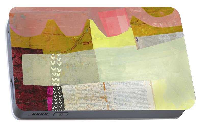 Abstract Art Portable Battery Charger featuring the painting Desert Dream #6 by Jane Davies