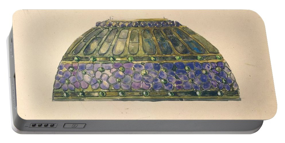Car Portable Battery Charger featuring the painting Design For Floral Lamp Louis Comfort Tiffany American, New York 1848-1933 New York by Louis Comfort Tiffany