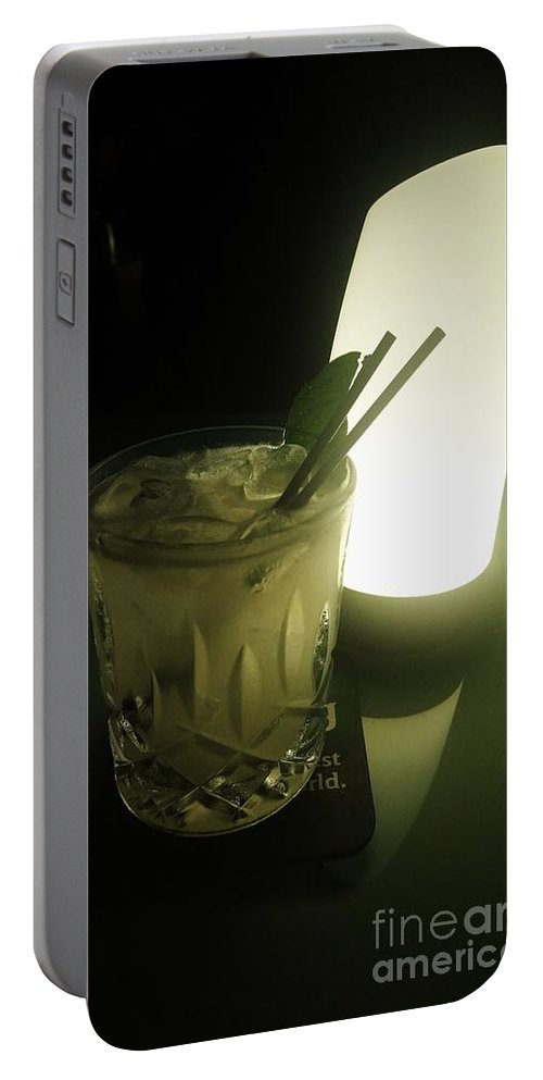 Drinks Portable Battery Charger featuring the photograph Lime On Fire by Philip