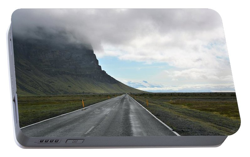Iceland Portable Battery Charger featuring the photograph East On One by Norman Burnham
