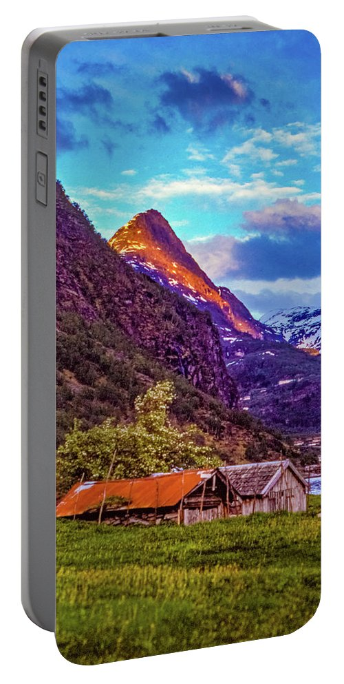 Steve Harrington Portable Battery Charger featuring the photograph Evening On The Fjord by Steve Harrington