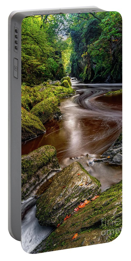 Autumn Portable Battery Charger featuring the photograph Fairy Glen Gorge by Adrian Evans