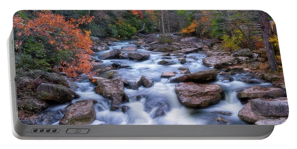 Fall Flow Portable Battery Charger featuring the photograph Fall Flow by Russell Pugh