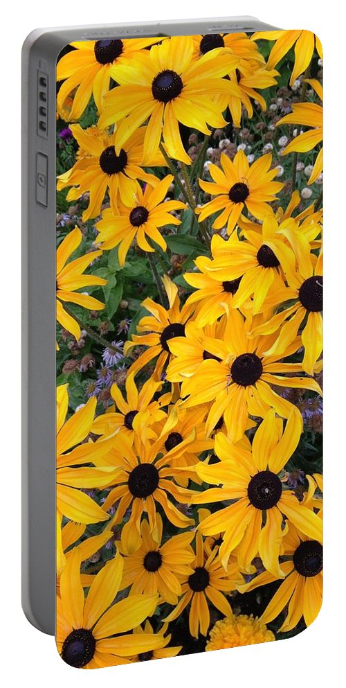 Flowers Portable Battery Charger featuring the photograph False Sunflowers by Norman Burnham