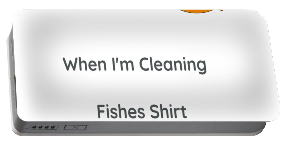 T Shirt Portable Battery Charger featuring the digital art Fish T Shirt by Dawn OConnor