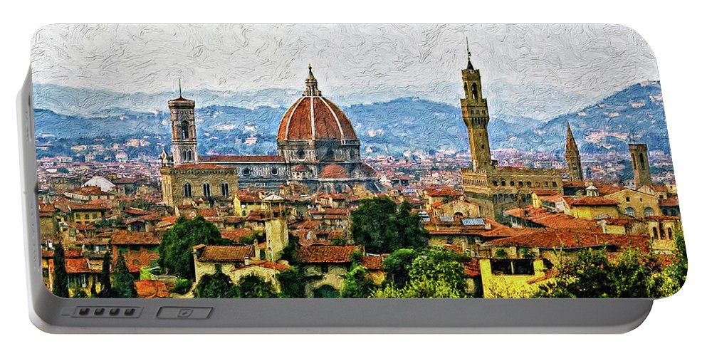 Florence Portable Battery Charger featuring the photograph Florence Impasto by Steve Harrington