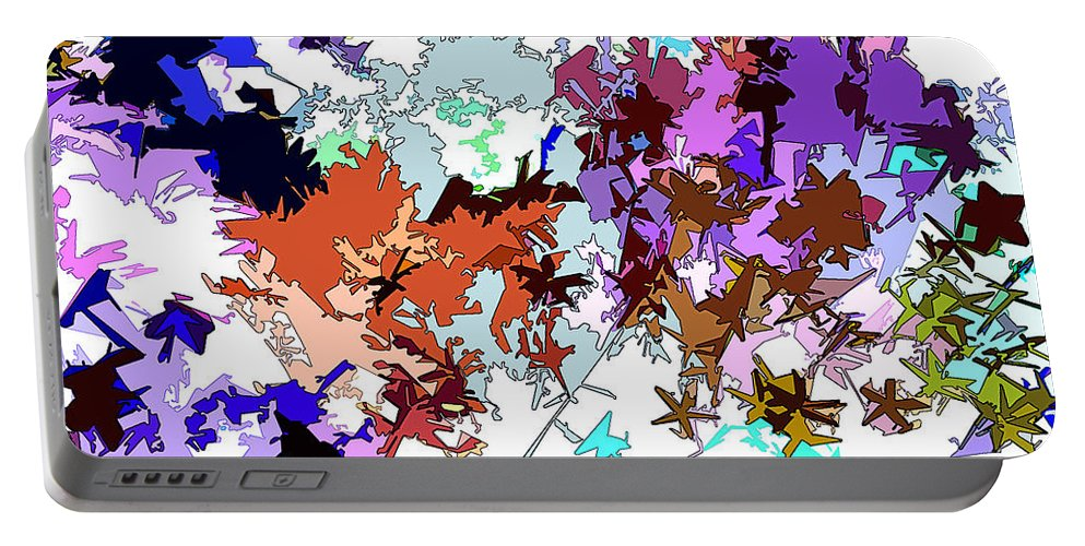 Abstract Portable Battery Charger featuring the digital art Fluttering Vista by Linda Mears