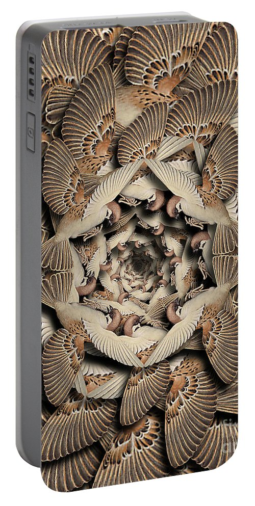 Bird Portable Battery Charger featuring the digital art Forms of Nature #16 by Kenneth Rougeau