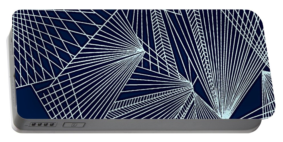 Geometric Patterns Portable Battery Charger featuring the painting Geometric Pattern 1-colour-2 by Katerina Stamatelos