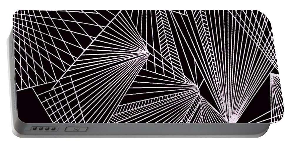 Geometric Patterns Portable Battery Charger featuring the painting Geometric Pattern 1-colour-5 by Katerina Stamatelos