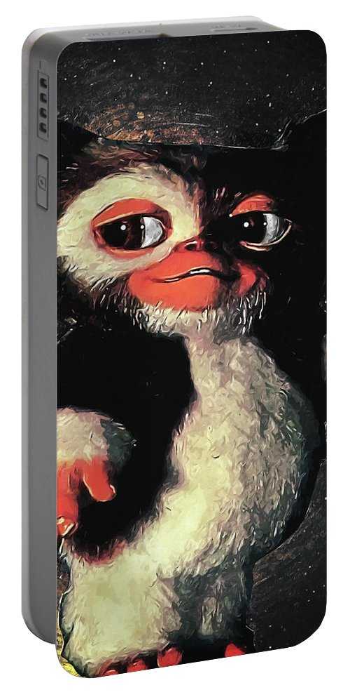 Gizmo Portable Battery Charger featuring the digital art Gizmo by Zapista Zapista