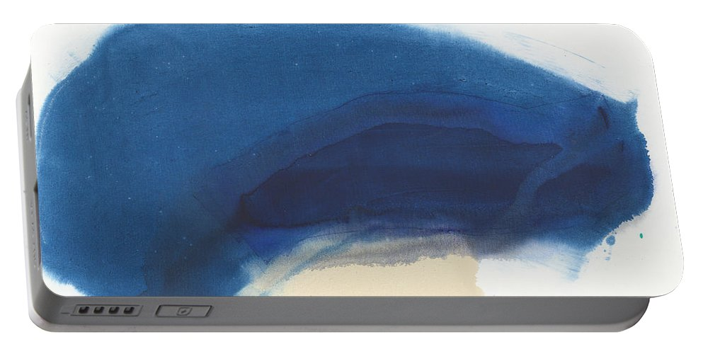 Abstract Portable Battery Charger featuring the painting Go Easy by Claire Desjardins
