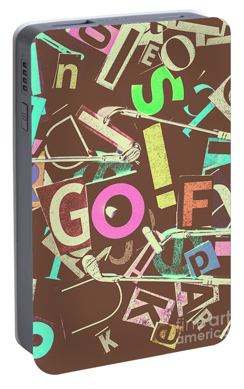 Letterpress Portable Battery Charger featuring the photograph Golfing Print Press by Jorgo Photography - Wall Art Gallery