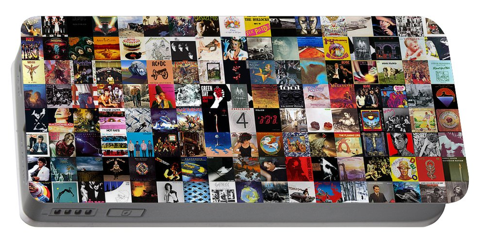 Album Covers Portable Battery Charger featuring the digital art Greatest Album Covers of All Time by Zapista OU