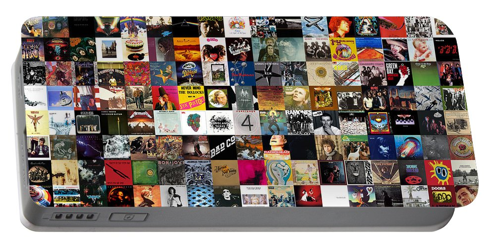 Album Covers Portable Battery Charger featuring the digital art Greatest Rock Albums of All Time by Zapista OU