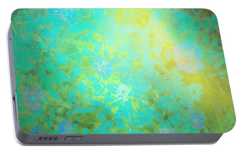Nature Art Portable Battery Charger featuring the digital art Grgl by Ron Labryzz