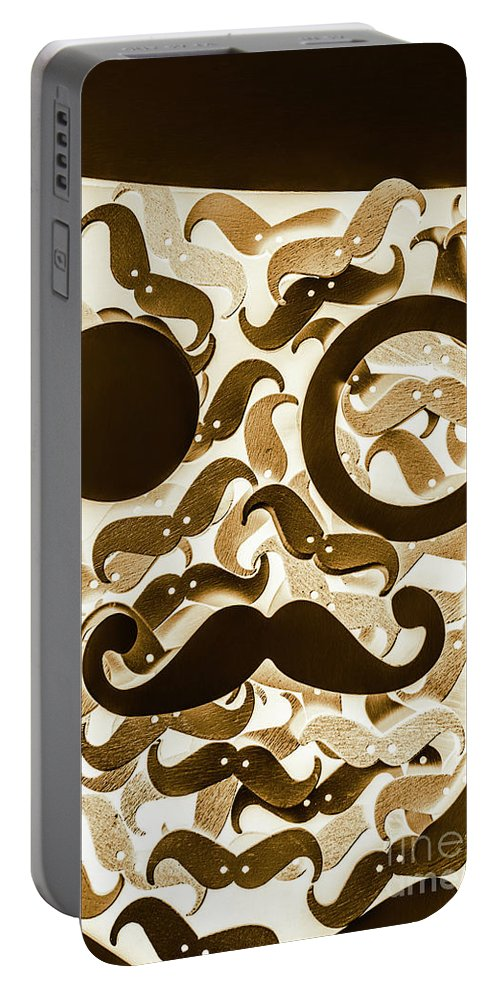 Barber Portable Battery Charger featuring the photograph Hairy Hipster by Jorgo Photography - Wall Art Gallery
