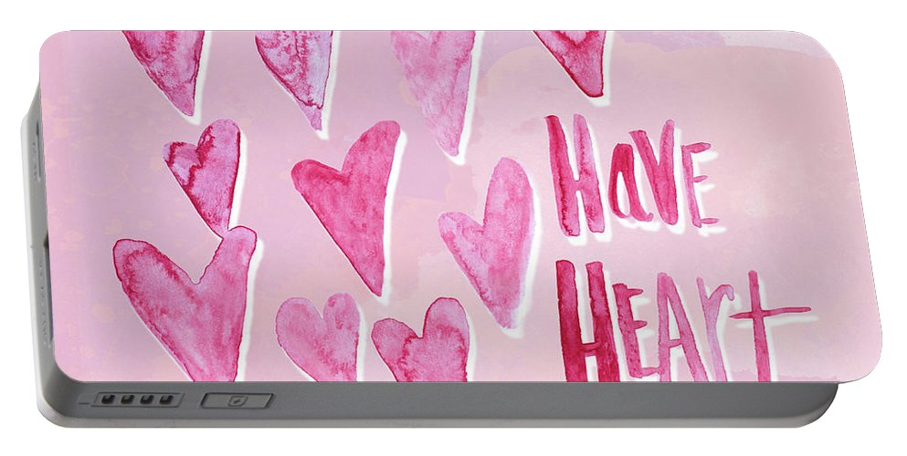 Have Portable Battery Charger featuring the mixed media Have Heart by Sd Graphics Studio