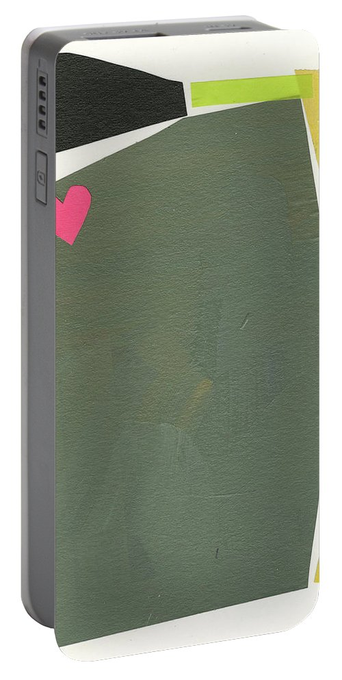 Abstract Art Portable Battery Charger featuring the painting Heart #19 by Jane Davies