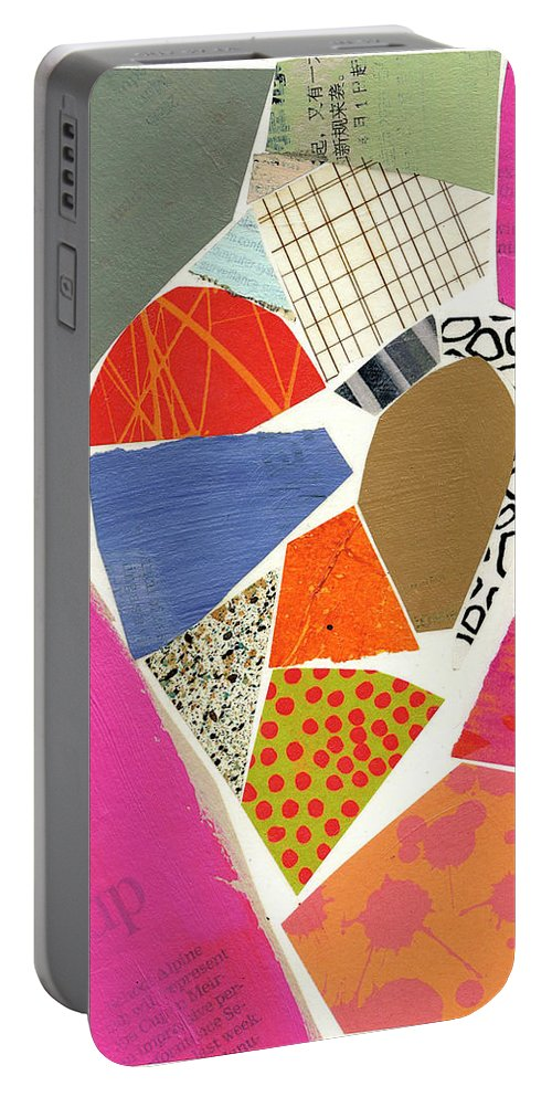 Abstract Art Portable Battery Charger featuring the painting Heart #40 by Jane Davies