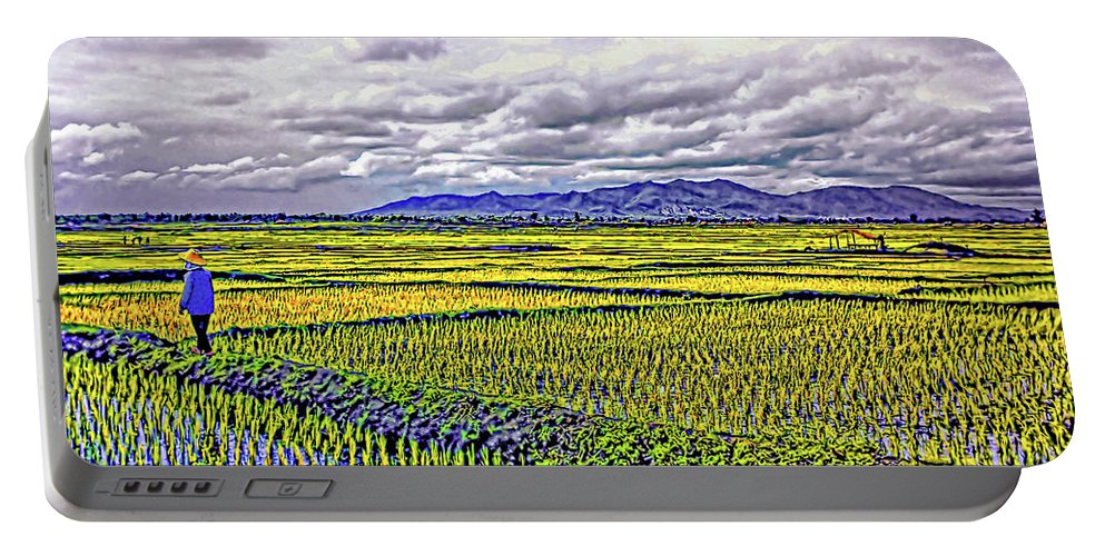 Rice Portable Battery Charger featuring the photograph Heartland by Steve Harrington