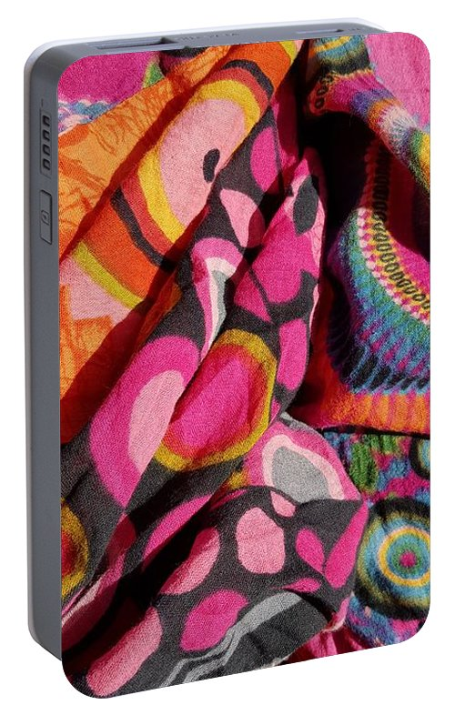 Colours Portable Battery Charger featuring the photograph Holiday Colours by Paola Baroni