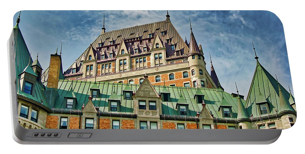 Le Chateau Frontenac Portable Battery Charger featuring the photograph Hotel Roof by Meta Gatschenberger