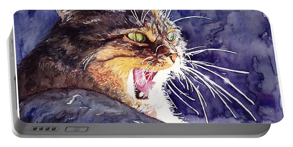 Little Portable Battery Charger featuring the painting Hunter by Suzann Sines