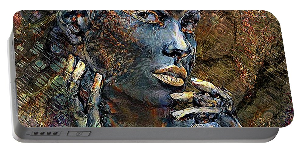 Golds Portable Battery Charger featuring the mixed media Imperfection Is Beauty 002 by G Berry