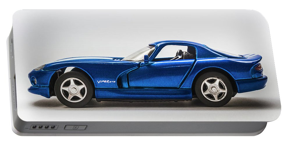 Dodge Viper Portable Battery Charger featuring the photograph In Race Blue by Jorgo Photography - Wall Art Gallery