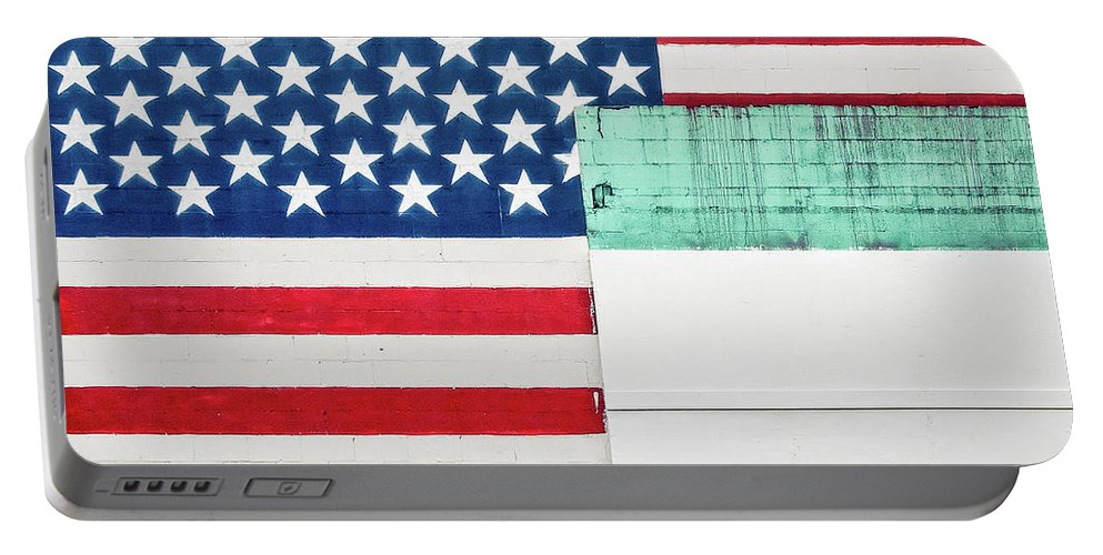 Americana Portable Battery Charger featuring the photograph Industrial Glory by Todd Klassy