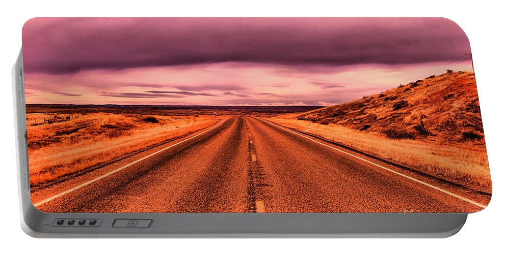 Road Portable Battery Charger featuring the photograph Into Nothingness by Jeff Swan