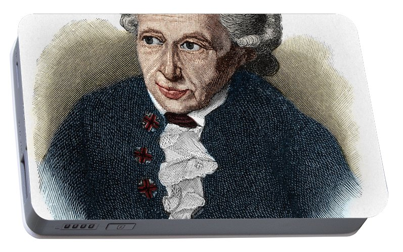Kant Portable Battery Charger featuring the drawing Kant, 1724-1804 German Philosopher by European School