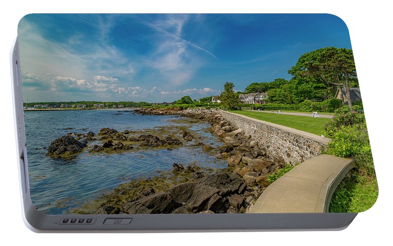 Kennebunkport Portable Battery Charger featuring the photograph Kennebunkport The Green Lively Life by Betsy Knapp
