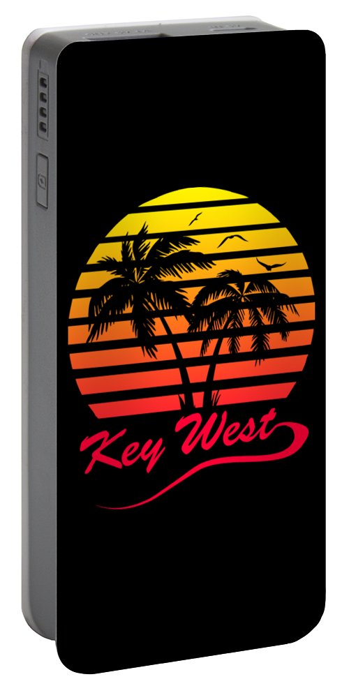 Key Portable Battery Charger featuring the digital art Key West by Filip Schpindel