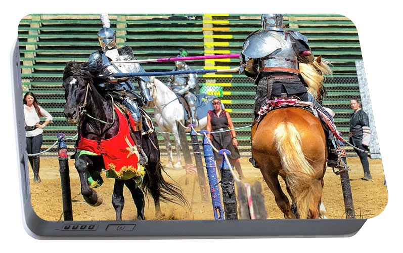 Equine Portable Battery Charger featuring the photograph Knights Of Mayhem 08 by Jim Thompson