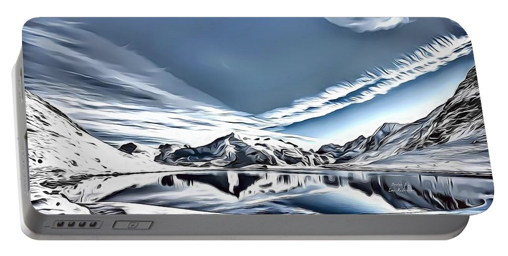 Landscapes Portable Battery Charger featuring the digital art Landscapes 40 by Leo Rodriguez